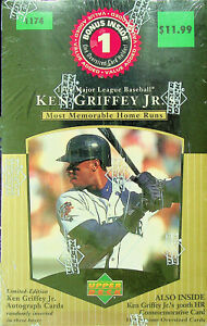 1998 Upper Deck Ken Griffey Jr's Most Memorable Home Runs 10 Card Set - Sealed