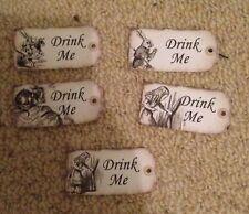 20 Alice in wonderland Drink Me  vintage Birthday tea party Decorations