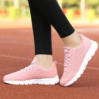 Damen Sneaker Ultraleicht Memory Foam Laufschuhe Strick Sommer Athletik Sports B