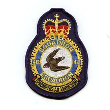 RCAF CAF Canadian 412 Squadron Heraldic Colour Crest Patch