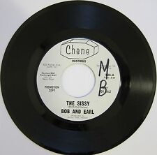 BOB AND EARL: The Sissy / Baby I'm Satisfied - M- (wol) Chene Soul Promo 45