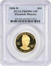 2008-W Elizabeth Monroe $10 PCGS PR 69 DCAM - First Spouse .999 Gold