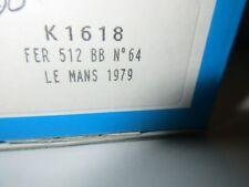 PROVENCE MOULAGE 1/43 FERRARI 512 BB LE MANS 1979 #64 KIT K1618
