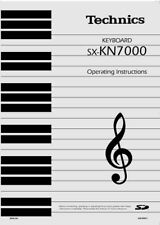 Technics SX-KN7000 Keyboard Owners Instruction Manual Reprint