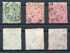Briefmarken Altdeutschland NDP, Mi.Nr. 7-9, gestempelt