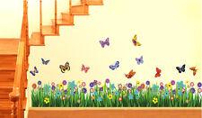 701 | Wall Stickers Walking in the Garden Flower Border Design