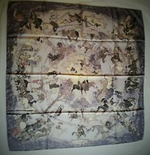 Foulard collector HERMES carré  LES AMAZONES  - Philippe Dumas scarf