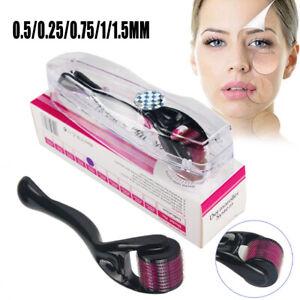 Derma Roller Micro Aiguille 0.25-1.5mm Peau Anti-âge Ride Cellulit Facial Titane