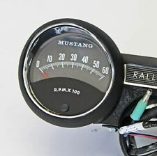 1965 Rally Pac V8 6000 rpm Black Ford Mustang New in the Box with Mustang Logo