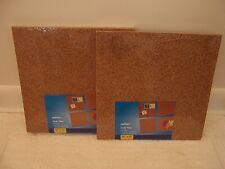 Caliber Cork Tile Natural 12x12'' Frameless 8 Tiles Board Holder bulletin board