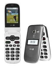 NEW DORO PHONE EASY 620 GRAPHITE UNLOCKED BIG BUTTONS FLIP ELDERS MOBILE PHONE