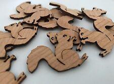 25 Streudeko Holz Tischdeko Deko Bastel Zubehör  Streuteile Eichhörnchen Herbst