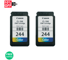 New! Genuine Canon Ink Cartridges (2) CL-244 For MG2522 MG2525 MG3022
