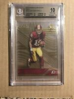 2016 JOSH DOCTSON PANINI CLEAR VISION GOLD /29 BGS 10 PRISTINE ROOKIE REDSKINS