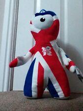 LONDON OLYMPICS 2012 UNION JACK SPECIAL EDITION LARGE WENLOCK MASCOT 46CM