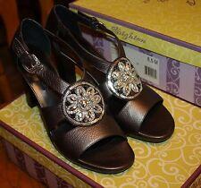 """Brighton """"VIVA""""  Pewter strap sandal shoes 8 1/2M  NWT Retails $300.00"""