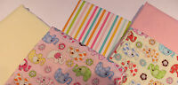 BABY ELEPHANTS PATCHWORK CRAFT FABRIC MATERIAL BUNDLE - 20cm SQUARES