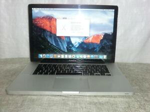 Apple MacBook Pro A1286 2009 15 Core 2 Duo 2.66Gh 4GB 320GB El Capitan VGC >?11