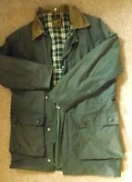 Vintage Barbour style Haven Wax Jacket  green  small