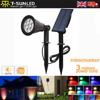 Separated Solar 7 LED 7 Color Changing Spotlight Wall lights Garden Outdoor New