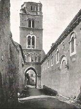 D0653 Caserta vecchia - Campanile - Stampa antica del 1928 - Old Print