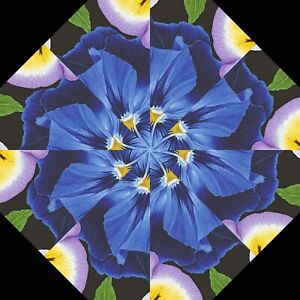 """LARGE PANSY FLORALS 2-10"""" Kaleidoscope Quilting Pre Cut Block Kit Stack Whack"""