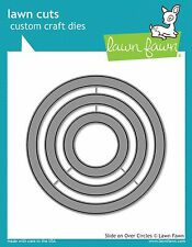 Lawn Fawn Slide On Over Circles Die Set Lf1382-New!