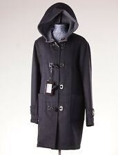 NWT $8400 BRIONI Leather-Trimmed 100% Cashmere Parka w/ Metal Toggles 54/XL Coat