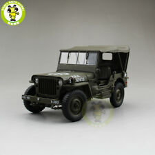 1/18 1941 JEEP WILLYS MB US ARMY Diecast Car Model Toys Welly Army Green