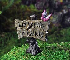 Georgetown We Believe in Fairies Miniature Fairy Garden Sign Decor Mini New