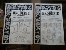 2 OLD NEWSPAPERS LA BRODERIE LYONNAISE 1961 VINTAGE EMBROIDERY PATTERNS