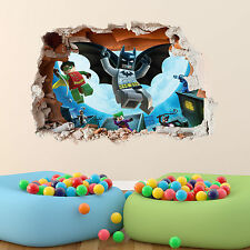 Lego Batman Wall Sticker Boys Girls Bedroom 3dvinyl Wall Art Decal