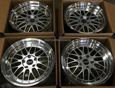"""18"""" ESR SR05 Wheels 18x8.5 +30 5x120 Silver Rims For BMW 325xi 328xi 330ci Rims"""