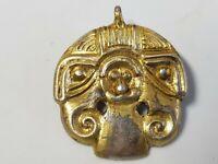 Viking Scandinavian Silver -Gilded Odin Pendant