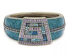 "HEIDI DAUS ""Grecian Glamor"" Crystal and Enamel Bangle Bracelet NWT Retail $190"