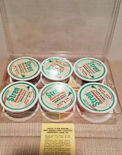 VINTAGE  6 PACK STREN 6LB FLUORESCENT 100 YDS ROLLS FISHING LINE IN ORIGINAL CAS