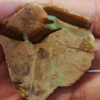 Rare Opal formation 97.85CT +VIDEO  Australian Queensland Boulder Opal Rub
