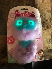 """Skyrocket Pomsies """"BOOTS"""" Purple and Blue Interactive Pom-Pom Pet Cat - In Hand"""