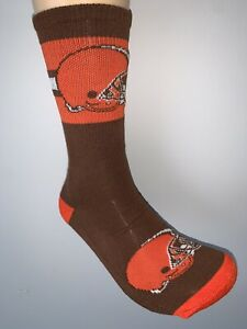 CLEVELAND BROWNS NFL FOOTBALL JERSEY LOGO FIRST STRING CREW SOCKS LARGE