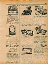 1961 ADVERT Cadaco Ellis Games Foto Electric Bseball Football Hockey Hoc Key