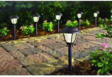 Hampton Bay Bronze 6 Pack Solar Power Led Garden Pathway Outdoor Light 4 Lumen