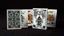 WHITE NAUTIC Bicycle deck playing cards intricate black design gothic damask
