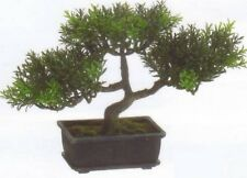 "9""  ARTIFICIAL TEA LEAF BONSAI TREE TOPIARY IN OUTDOOR PLANT ARRANGEMENT FLORAL"