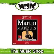 6x Martin Marquis 80/20 Bnz 12-String Acoustic Guitar Strings 12-54 Light- M1700