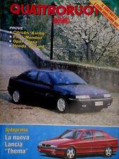 Quattroruote 451 1993 Test Honda. Poster Citroen Xantia. Nuova Lancia Thema Q.12