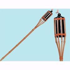 Torcia In Bamboo Da Terra Con Serbatoio In Metallo H 120 Cm 1pz