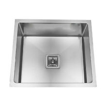 380*380*220mm Square Waste Stainless Steel Deep Single Kitchen Laundry Sink