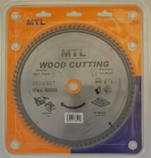 250mm dia. x 80T x 30mm bore MTL brand TCT Circular Saw Blade for Wood cutting