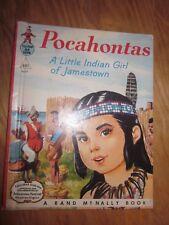 1958 Rand Mcnally Elf Book Pocahontas Indigenous Native Girl Of Jamestown