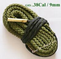 New Bore Snake Gun Cleaning .38 Cal .357 Cal .380 Cal & 9mm Boresnake Cleaner